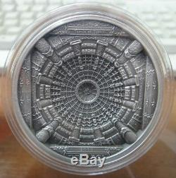 Coins 20 dollars 2015 Cook Islands Temple of Heaven 3.2 Oz Silver RARE