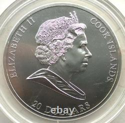 Cook 2008 Birth of Venus 20 Dollars 3oz Silver Coin, Matte, BU