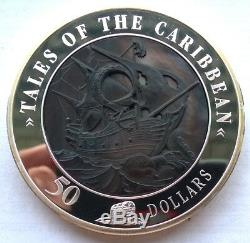 Cook 2008 Tales of The Caribbean 50 Dollars 5oz Silver Coin, Proof