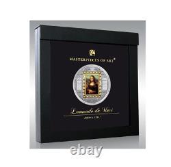 Cook 2009 Masterpieces of Art Mona Lisa Leonardo da Vinci Gold Silver Coin 1