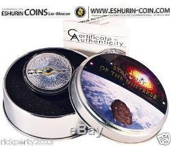 Cook Island 2013 5$ Chelyabinsk Meteorite 15. Februar 2013 silver coin
