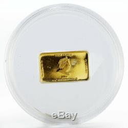 Cook Island 25 dollars Golden Bible book crystals proof gold coin 2006