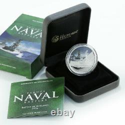 Cook Islands 1 dollar Great Naval Battle of Jutland, ships, proof coloured 2011