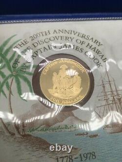 Cook Islands 1978 $200 Gold Proof Coin Captain James Cook 16.63g