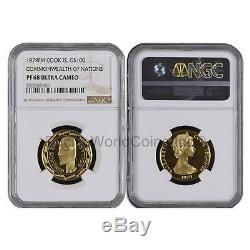 Cook Islands 1979 Commonwealth of Nations $100 Gold NGC PF68 ULTRA CAMEO