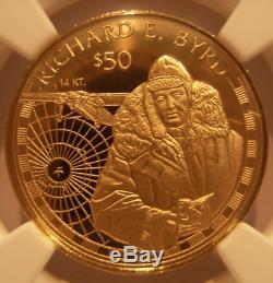 Cook Islands 1997 Gold $50 NGC PF-69UC Richard E. Byrd