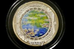 Cook Islands $20 2015 MASTERPIECES OF ART-WATER LILIES-CLAUDE MONET -3 oz Silver