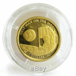 Cook Islands 20 dollars First man on the moon proof gold coin 1995