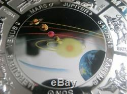 Cook Islands 2000 $10 Planetary Alignment 10 oz Coloured Silver Coin