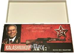 Cook Islands 2007 $2 Kalashnikov 2 x1oz LIMITED Silver Coin Set Rare Few left