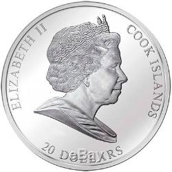 Cook Islands 2008 20$ Birth of Venus Sandro Botticelli 3 Oz Silver Proof Coin