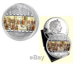 Cook Islands 2008 20$ Masterpieces of Art School of Athens 3oz Proof Silver Coin