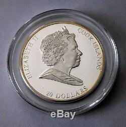 Cook Islands 2008 Masterpieces of Art series Birth of Venus proof edition