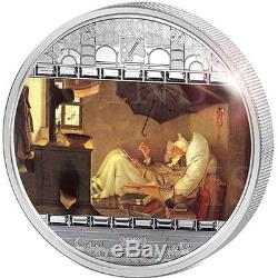 Cook Islands 2009 20$ Masterpieces Art POOR POET Carl Spitzweg 3oz Silver Coin