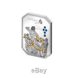 Cook Islands 2009-2011 4x5$ Vatican Art Siilver Coin Set with Swarovski