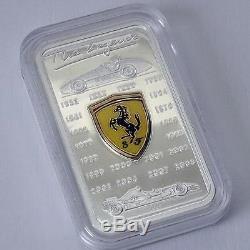 Cook Islands 2009 $5 Ferrari The Legend Car 25g Proof Silver Coin VERY RARE