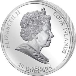 Cook Islands 2010 $20 Masterpieces of Art Rembrandt 3 OZ Proof Silver Coin