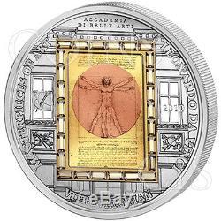 Cook Islands 2010 20$ Vitruvian Man Masterpieces of Art 3oz Proof Gold Silver