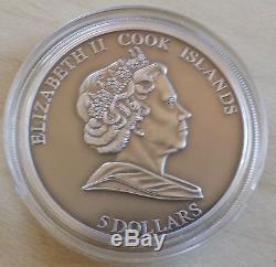Cook Islands 2010 5$ THE HAH 280 METEORITE METEIRITEN Silver +BOX+COA! RARE