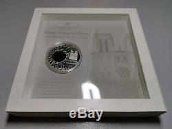 Cook Islands 2011 $10 NOTRE DAME DE PARIS 50g Silver Prooflike Coin Window Glass