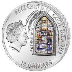 Cook Islands 2011 10$ Seville Cathedral Windows Of Heaven Proof Silver Coin