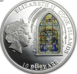 Cook Islands 2011 10$ Windows Of Heaven London Westminster Abbey Silver Coin 2