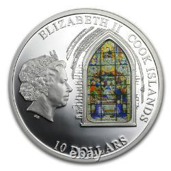 Cook Islands 2011 10$ Windows Of Heaven Sevilla Silver Proof Coin 4