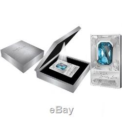 Cook Islands 2011 20$ Luxury Line 100 g Proof Silver Coin with Swarovski