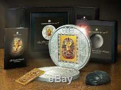 Cook Islands 2011 20$ Masterpieces Of Art King Pharaoh Tutankhamun Mask Silver