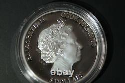 Cook Islands 2011 $5 MARILYN MONROE Silver Proof Coin with real Diamond