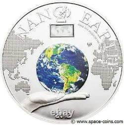 Cook Islands, 2012, 10$, NANO EARTH With NANO Chip! 50g Silver Proof Coin