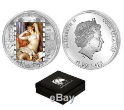 Cook Islands 2012 $20 Renoir Masterpieces of Art Sleeping Bather 3Oz Silver Coin