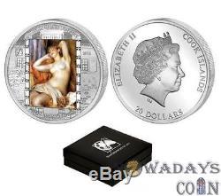 Cook Islands 2012 20$ Renoir Masterpieces of Art Sleeping Bather 3Oz Silver Coin