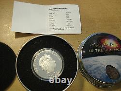 Cook Islands 2012 5$ SEYMCHAN METEORITE Proof Silver SILBER