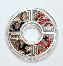 Cook Islands -2012 Year of the Dragon 4 x $1, Set COA, OGP