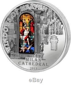 Cook Islands 2013 $10 Windows of Heaven Milan Cathedral 50 g Silver Proof Coin
