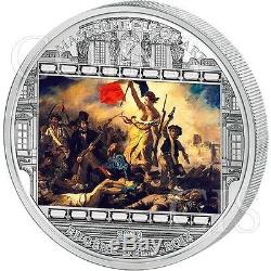 Cook Islands 2013 20$ Liberty Leading the People Delacroix MoA 3oz Proof Ag Coin