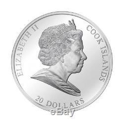 Cook Islands 2013 $20 Masterpieces of Art John Maler Lady Godiva 3oz Silver Coin