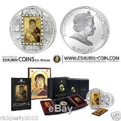 Cook Islands 2013 20$ Masterpieces of Art Virgin of Vladimir Masterpieces