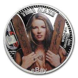 Cook Islands 2013 Silver Proof $5 Tina Maze World Ski Champion