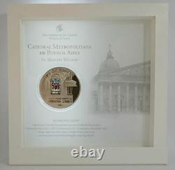 Cook Islands 2014 $10 WINDOWS OF HEAVEN Buenos Aires Cathedral Silver Coin