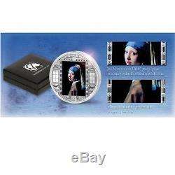 Cook Islands 2014 20$ Masterpieces Vermeer Van Delft Girl Pearl 3 Oz Silver Coin