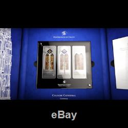 Cook Islands 2014 3 X 20$ Giants Windows Of Heaven Cologne Silver Proof Coin 1
