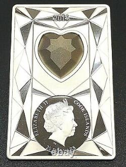 Cook Islands 2014 Luxury Line II 100g Silver Coin with Huge Swarovski Stone