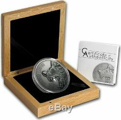 Cook Islands 2015 10$ CANIS LUPUS Gray Wolf North American Predators Silver Coin