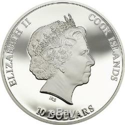 Cook Islands 2015 $10 Nano Life The Evolution Nano Chip Proof 50g Silver Coin
