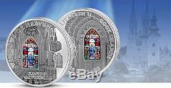 Cook Islands 2015 10$ Windows of Heaven Zagreb Cathedral 50g Silver Coin