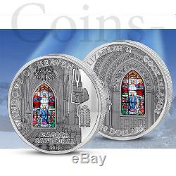 Cook Islands 2015 10$ Zagreb Cathedral Windows Of Heaven 50g Silver Coin