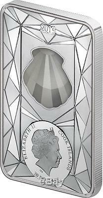Cook Islands 2015 20$ Luxury Line IV Crystal Shell 100g Proof Silver Coin