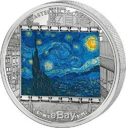 Cook Islands 2015 20$ Masterpieces Starry Nigh Van Gogh Proof 3 Oz Silver Coin